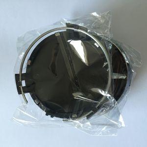 4 قطع 75 ملليمتر سيارة عجلة حافة مركز كاب أسود فضي عجلة يغطي forben-z