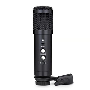 RISE-Professional USB Microphone BM800 Condenser Microphone With Ear Return Monitor Mute Reverb Computer M