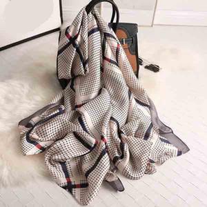 New style Chinese Silk Four Seasons Women Print nice quality scarf Popular silk Headscarf Lady Sunscreen Beach Fashion Shawl