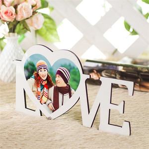 Valentine Day Picture Sublimation Blank Wooden Paintings Board HDF LOVE Heart Ornaments Support Color Fastness 10 93xm L2