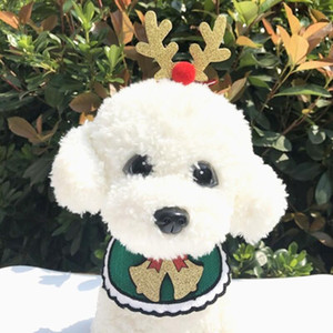 Dogs Bibs Christmas Dog Punto Bandana Suministros para mascotas Accesorios para perros Bufanda Mascotas Puppy Appare Accesorios Elk Adornos de pelo CCD3199