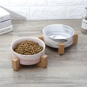 Dry Ceramic Pet Bowl Canister Food Water & Treats for Dogs & Cats More Comfortable Eating for Kitten and Puppy Durable 23JunO4 T200101
