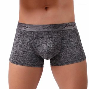 Lungo Jiang Brand Boxer da uomo Morbido traspirante mutande mutandine pantaloncini sexy biancheria intima maschile vita media nuova moda # 1