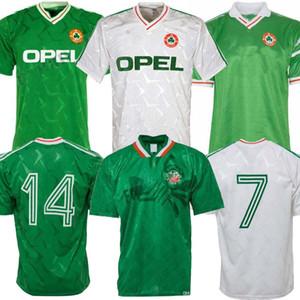 1990 1992 Irlande Retro Soccer Jersey 1990 Coupe du monde Irlande Home Away Jersey classique 90 92 Vintage Irish Sheedy 1994 Chemises de football 1998
