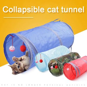 Funny Pet Combination Cat Tunnel Game Channel Collapsible Kitten Puppy Ferrets Ball Toy Play Dog Tunnel Tubes Play Supply