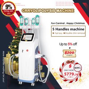 2021 Cryolipolysis Fately máquina de congelamento máquina de emagrecimento de celulite remoção de salão de beleza com 5 360 graus cryo handles