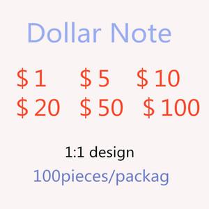 Hot-Reading Simulation Banknotes Поддельные деньги 1 доллар США SPOOF Game Praction Praction Banknote Подсчет Token Factory прямые продажи 35