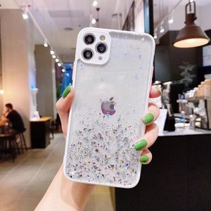 Camera Lens Protection Phone Case For iPhone 11 Pro XR XS Max 12 Mini 8 X Bling Star Transparent Soft Back Cover Shell