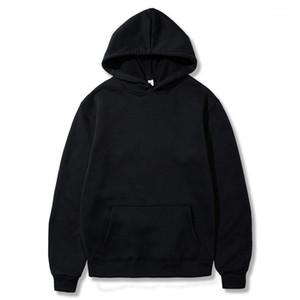 Swenearo осень зима сплошной цвет флисовые толстовки мужской европейский американский стиль хип-хоп толстовка с толстовой курткой мужской hooded1