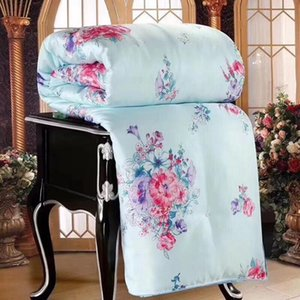 New Luxury Silk Comforter Duvet Twin Queen King Full Size Conditioning Summer Cover Jacquard Bedding Quilt Quilts Blanket