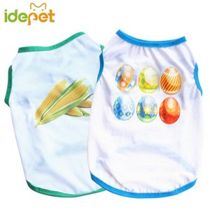 Small Dog Clothes Summer Spring Pet Dog Cat Shirt Cute Soft Costume Yorkshire Chihuahua Terrier T-shirt Breathable Pet Vest 35