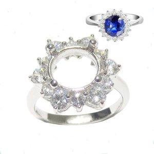 BUSTERSNICE ID27359 Серебряные ювелирные украшения Установка кольца стерлингового серебра DIY Rings Semi Mount Ring Настройки Round Y1128