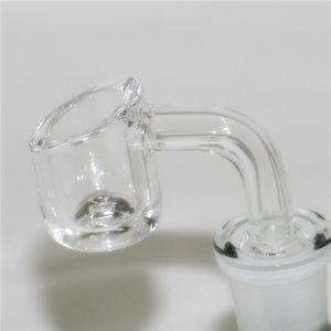 4mm thick club banger domeless quartz nail 10mm 14mm 18mm male female 90 45 Degrees 100% real Quartz Banger Nails glass nectar