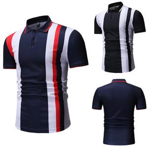 Polos Casual Teenager Tees Designer Menseurs Polo Chemises Revers Revers manches courtes à manches courtes imprimées