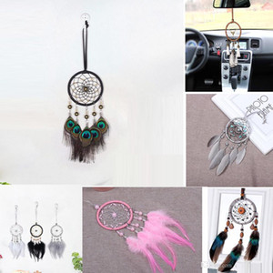 Enchanted Forest Dreamcatcher Handmade Dream Catcher Net With Feather Wall Decoration Car Hanging Home Ornament Craft Gift