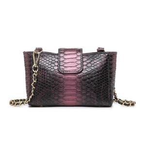 Foreign trade fashion chain bag new trendy snake pattern shoulder bag convenient messenger bag