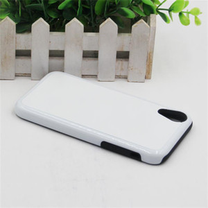 2D Sublimation Case Dual Protection with Blank Aluminum Sheet For iPhone 8 Plus XS XR 11 PRO Max 2 in 1 DIY Printing Case