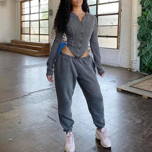 Tracksuit Women Sweat Suits Women Matchining Sets Long Sleeve Hoodie Zip Up Sweatpants Solid 2 Piece Sets Womens Outfits1