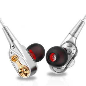 Unit Drivers headphones In Ear earphone Bass Subwoofer Stereo With Mic Sport HIFI earbuds gaming headset For iphone