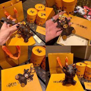 O2IW6 Hecho a mano STYLEYUNIQUE Diseñador llaveros Anillo Diámetro tejido Cuerda Lujos de lujo Llaveros Colorido Anillo Creativo Cuero y
