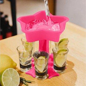 5 Shot Glass Dispenser Держатель Вина Стеклянная стойка Кулер Пивной Напиток Диспенсер Выстрел Buddys Свадебные Подарки Бар Аксессуары DDA839