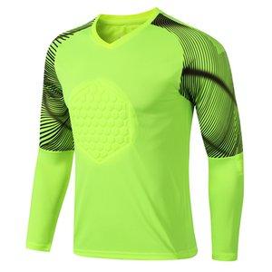 Men's Soccer Jerseys Professional Adult Sport Shirts Long Sleeve Football Goalkeeper Uniforms Training Wear Workout