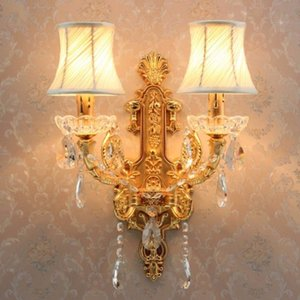 E14 2-head Gold led candle Wall light white shade Mirror Light Bathroom led Wall sconce Industrial modern Lamps
