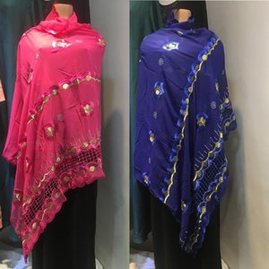 Saudi Thobe African Muslim Traditional Cotton Shawl Wrap Cording Embroidery Scarf Diamond Wave Plain Hijabs Chemincal Lace Stol