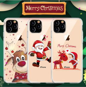 Suitable for 12 pro max mobile phone case new Christmas gift transparent TPU anti-drop 11 promax mobile phone case goophone