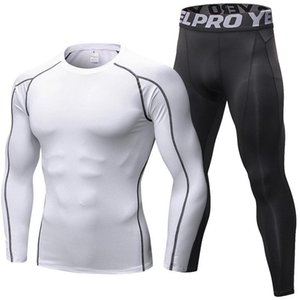 2-piece Sets Compression Suits Men's Quick Dry Set Clothes Sport Running Pants Jogging Gym Work Out Fitness Tracksuit Clothing