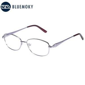 BLUEMOKY Marka Tasarım Kare Sahte gözlükler Çerçeve Kadınlar Ultralight Optik Miyop Gözlük Erkekler Alaşım Reçete Gözlükler