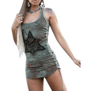 VICABO Женские женские платья O-образным вырезом.