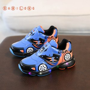 BAMILONG 2020 Children Shoes Boys Sneakers Basketball Shoes Girls Leisure Trainers Casual Breathable Kids Running Shoes B276 Y1117