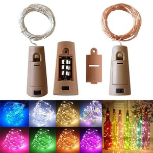 DHL 2M 20LED Wine Bottle Lights Cork Battery Powered Starry DIY Christmas String Lights For Party Halloween Wedding Decoracion