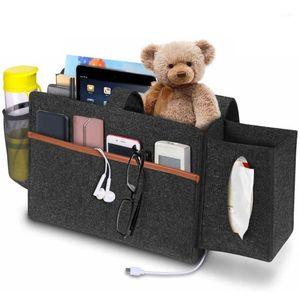 NEW Felt Bedside Storage Organizer Hanging Caddy Bed Holder Pockets Sofa Organizer Pockets Book Felt Bed Holder1