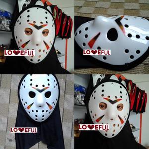 Voorhees Cosplay Yeni Bez Beyaz Sikrarlı Jason Renkli Freddy Hokey Festivali Parti Cadılar Bayramı Masquerade Maske