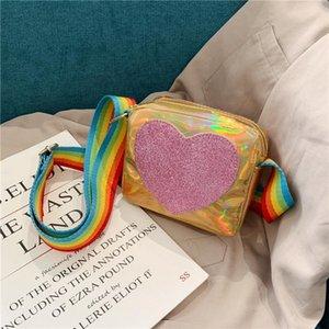 Rainbow Baby Square Little Borsa Borsa Mini Love Love Girls Borse a tracolla PU Coin Pelle Boys Crossbody Piccolo IFXMB