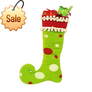 Discount Hot Sell Christmas candy gift bag Clown socks Home Party Decor Child favorite Christmas