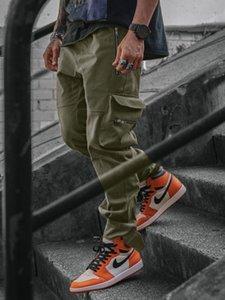 2020 Versión coreana de los nuevos hombres de la moda Tendencia Carga Pantsal Pantspocket Pantalones Autumn / Winter CN (Origin) 57