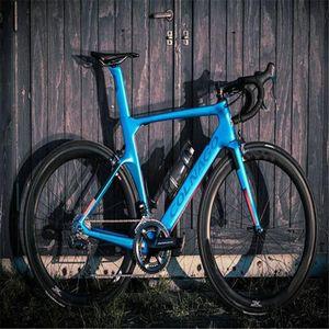 Colnago Kavramı Komple Karbon Bisiklet, Mavi Renk, Groupset Kolik, Karbon Tekerlek Seti, Elegele 14 Renk