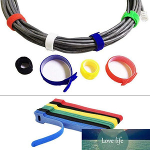 50Pcs Reusable Black Cable Cord Nylon Strap Hook Ties Tidy Organiser Tool Hook And Ties Multiple Colour Dropship