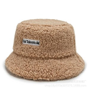 2020 Autumn and winter wide shade, Tetre, fish, female Korean version, alphabet, lamb, hair hat, Japanese pot cap