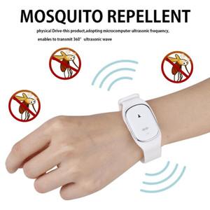 New Intelligent Ultrasound Artifact Mosquito Repellent Bracelet Ultrasonic Pest Repeller Reject Anti Mosquito Indoor Outdoor