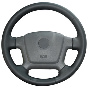 Hand Sew Black Artificial Leather Car Steering Wheel Cover for Kia Cerato 2005-2009 2010 2011 2012 Spectra Spectra5 2004-2009