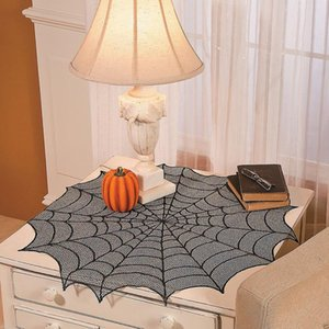 Halloween Spider Web Table Runner Black Lace Tablecloth Table Decor Festival Event Party Supplies