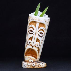 Seramik Tiki Kupa Yaratıcı Porselen Bira Şarap Kupa Bardak Bar Aracı 530 ml F1217