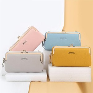 Bag New Sweet Long Leather Shoulder PU Crossbody Flap Multi-functional Bag Female Women Style Wallets Purse Wtttc