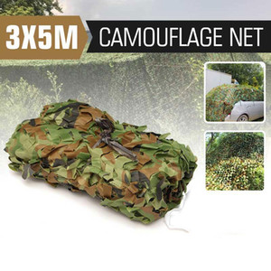 3 x 5m Кемпинг Camo Net Army Woodland Jungle Camouflage Nets Скрыть сетку Укрытие Sun Укрытие Автомобильная палатка
