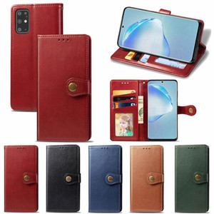 Retro Wallet Leather Photo Frame Card Slots Case For Samsung S20 Ultra Plus A01 A11 A21 A31 A41 A51 A71 A81 A91 M31 M01 A21S A90 5G Note 20