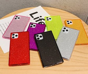 Glitter Square Phone Case TPU Bling Shockproof Portector for Apple 12 pro max 11 X Xs XR Xs Max 7 7p 8 8plus 6s 6plus